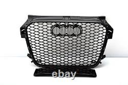 Front Grill Look Rs1 Noir Pour Audi A1 8x 2010-14 Honeycomb Grill Grille