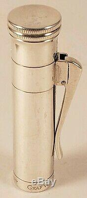 Graf Von Faber Castell Argent Massif Stylo-plume Moyenne 18k Nib Withbox