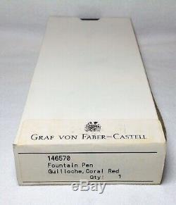 Graf Von Faber-castell Guilloché Corail Rouge Fontaine Pen Neuf Dans La Boîte Produit