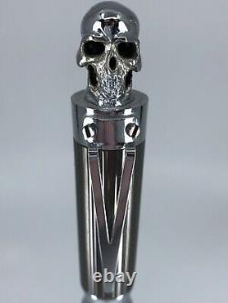 Jac Zagoory Conçoit La Légende Skull Pen Ball Point Twist With Stand. Nouveau Dans La Boîte