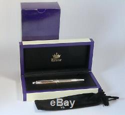 Krone Sterling Silver Fountain Pen M Nib Allemande Avec La Boîte