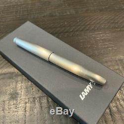 Lamy 2000 Fountain Pen En Acier Inoxydable À Pointe Fine L02f Nouveau Dans Lamy Box