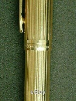 Le Waterman Man Solid Gold Fountain Pen Neuf Dans La Boîte