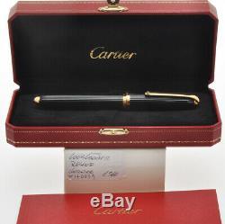 Louis Cartier St170039 Noir Composite & Gold Stylo Nouveau Dans La Boîte