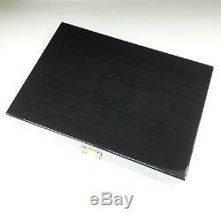 Luxe Montblanc Originale Affichage En Bois Laque Box Pour 20 Stylos Avec La Clé Rare Nouveau