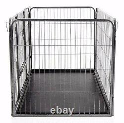M. Barker Heavy Duty 4pc Puppy Play Pen Dog Whelping Box Puppy Training Crate