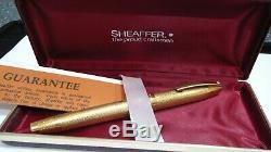 Magnifique Chef-d'oeuvre Sheaffer Imperial, Dans, 18k Solid Gold, 14k B Nib