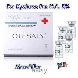 Mesotherapie 8% De L'acide Hyaluronique. 10vials / Boîte. Hyaluron Pen. Dermapen. Rouleau Derma