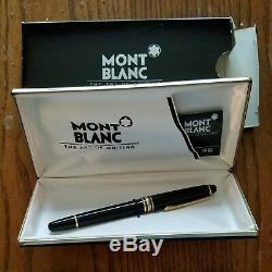Mont Blanc 144 Fountain Pen Avec 4810 Plume En Or Dans L'affaire Et Box