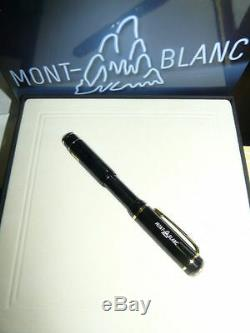 Montblanc 100 Years Limited Edition Fountain Pen 18k Or Med Pt Neuf Dans La Boîte