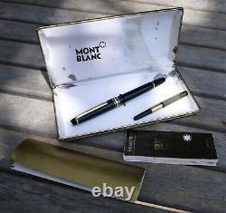Montblanc 144 Fountain Pen Avec Boîte Et Paperasse, 14k Ef Nib, Vintage