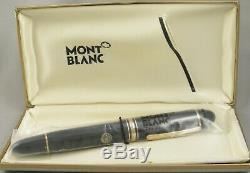Montblanc 149 Black & Gold Fountain Pen Dans L'encadré 1980 14kt Moyen Nib