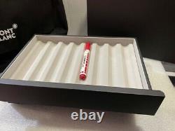 Montblanc Accessoires De Bureau En Cuir Stackable Boîte À Stylo Pour 8 Stylos #124027 Nouveau