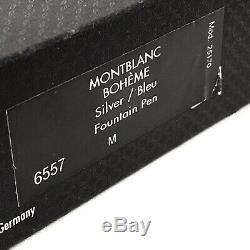 Montblanc Boheme En Argent Sterling / Bleu 6557 Fountain Pen & Pen Set Box