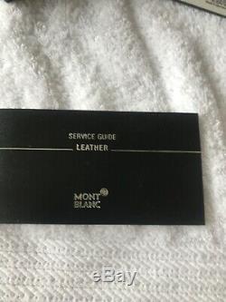 Montblanc Boheme Rouge Pen Noir Etui Cuir- Neuf Avec Boite Et Gravure Vouc