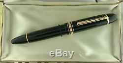 Montblanc Chef-d'œuvre 149 Fountain Pen 1972-1975 14c Moyen Nib Fills Boxed Ex ++