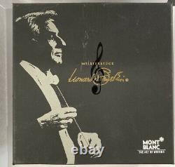Montblanc Edition Spéciale Leonard Bernstein 4810 Stylo De Fontaine Avec 18k Nib En Boîte