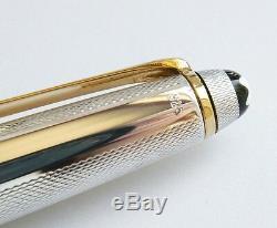 Montblanc En Argent Sterling D'orge Et D'or Fountain Pen X Pt Fine Neuf Dans La Boîte 144s