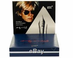 Montblanc Grands Personnages Édition Andy Warhol Rollerball Pen 112717 Nouveau Dans La Boîte