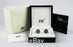 Montblanc Hartford Boutons De Manchette 18k Solide Red Diamonds Or Nouvelle Boîte Allemagne 109520