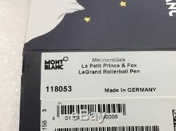 Montblanc Le Petit Prince & Fox Résine Legrand Pen # 118053 Roller -neuves Box