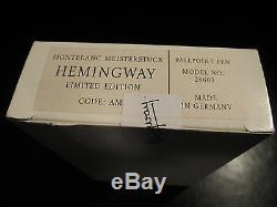 Montblanc Limited Edition Hemmingway Stylo À Bille Neuf Dans La Boîte Sealed
