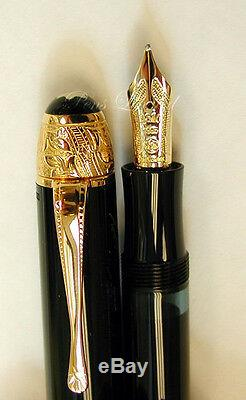 Montblanc Limited Edition Voltaire Fountain Pen Crayon À Bille Set Neuf Dans La Boîte