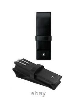 Montblanc Meisterstuck 14311 Sienne Deux Pen Pouch Black Italian Leather New Box