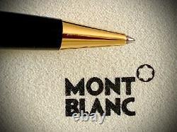 Montblanc Meisterstuck Ballpoint Stylo Avec Garnitures D'or Nouveau Dans La Boîte