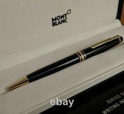 Montblanc Meisterstuck Black Ballpoint Pen 10883 Nouveau Dans La Boîte Et Les Papiers