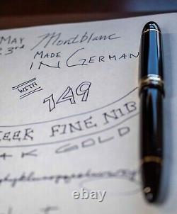 Montblanc Meisterstuck Diplomat 149 Stylo De Fontaine 14k Nib W Boîte À Menthe