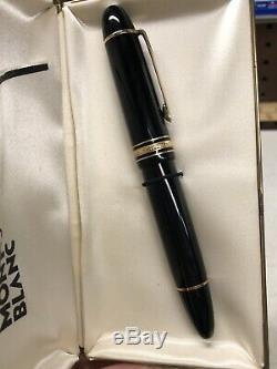 Montblanc Meisterstück N ° 149 Fountain Pen Avec 14k Nib 4810 Dans La Boîte Originale