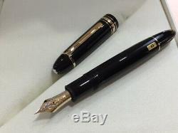 Montblanc Meisterstück Or Enduit Fountain Pen 149 (ef) Nib # 115382 -neuves Box