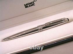 Montblanc Meisterstuck Royal Steel Classique No. 164 Stylo À Bille Nouveau + Boîte