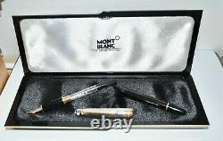 Montblanc Meisterstuck Sterling Silver & Gold Fontaine Stylo M Nib Mint Boxed