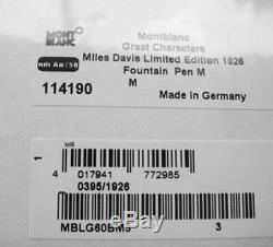 Montblanc Miles Davis Ltd 1926 Stylo Plume Or Plume M Neuve Boîte 114190 Allemagne