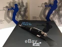 Montblanc Miles Davis Special Edition Pen # 114346 Neuf Dans La Boîte