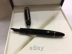 Montblanc Mst Platinum Enduit Fountain Pen P149 (o3b) Nib Neuf Dans La Boîte