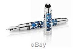 Montblanc No. 149 Fountain Pen Skeleton Bleu Heure Special Edition 2015 Nouveau + Box