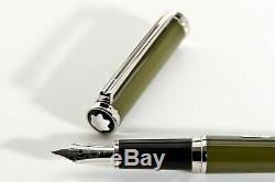 Montblanc Noblesse Oblige Vert Olive Fountain Pen 14 Kt. Large Pt. Nouveau Dans La Boîte