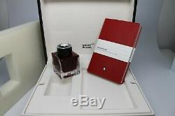 Montblanc Rare Set Red Ink 50ml & # 147 Notebook Neuf Dans La Boîte