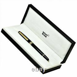Montblanc Rollerball Black Gold Trim 163 12890 Boîte À Stylo Authentique Et Papiers