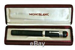 Montblanc Rouge Et Noir Bhr Ef Pipette Oversize Sécurité Silver Clip Box 1918