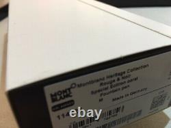 Montblanc Rouge Et Noir Coral Fountain Pen (m) Nib #114725 New In Box