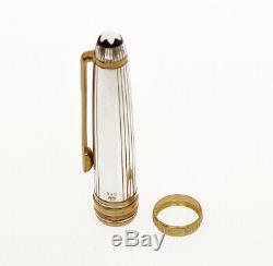 Montblanc Solitaire Mariage 144 Fontaine Argent Stylo Et 18k Bague En Or Nouveau Dans La Boîte