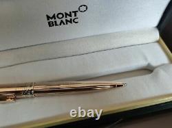 Montblanc Solitaire Vermeil Pinstripe Gold Rollerball Pen Nouveau Dans La Boîte 164vp