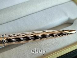 Montblanc. Solitaire Vermeil Pinstripe Gold Rollerball Stylo Nouveau Dans La Boîte 164vp