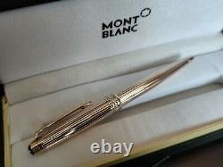 Montblanc Solitaire Vermeil Pinstripe Gold Rollerball Stylo Nouveau Dans La Boîte 164vp