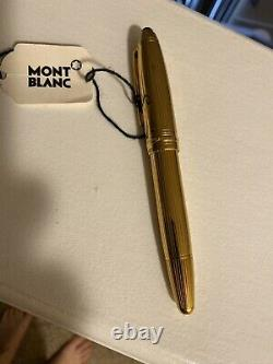 Montblanc Solitaire Vermeil Pinstripe Legrand Fountain Pen F Pt New In Box 146vp