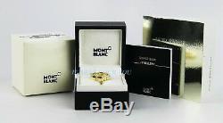 Montblanc Star Or Diamant Jaune Bague 101043 Taille 52, 6 Nous Nouvelle Box Allemagne